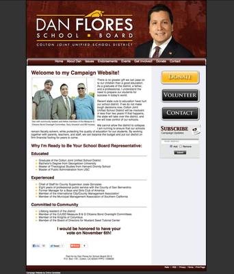 Dan Flores for Colton Joint Unified School Board