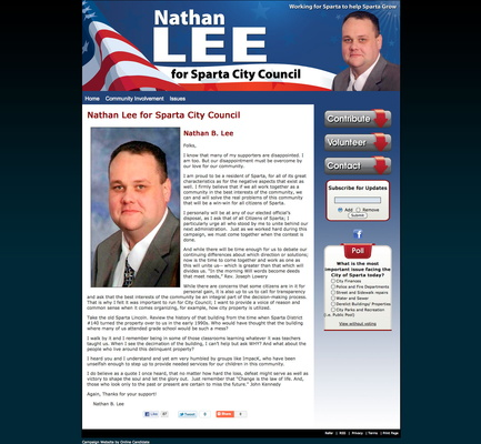 Nathan Lee for Sparta City Council