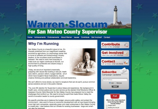 Warren Slocum for San Mateo County Supervisor