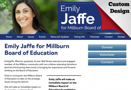 Emily Jaffe for Millburn Board of Education