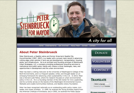 Peter Steinbrueck for Seattle Mayor