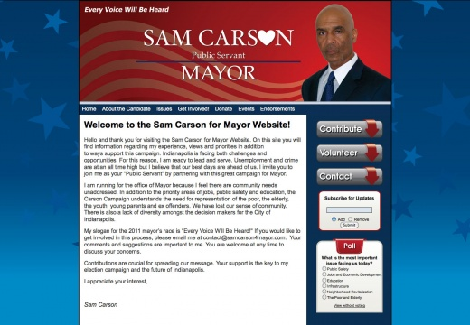 Sam Carson for Mayor of Indianapolis