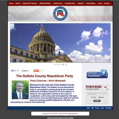 Political Committee Party Websites