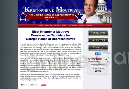Kristopher Moutray Conservative Candidate for Georgia House of Representative
