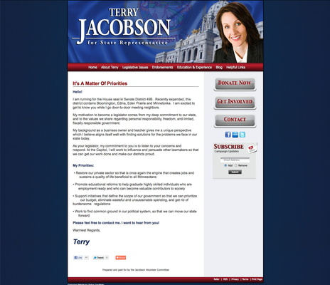 Terry Jacobson for Minnesota Senate District 49B