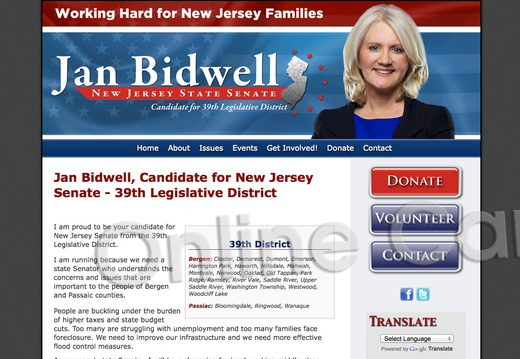 Jan Bidwell for New Jersey State Senate - 39th District