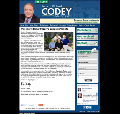 Richard Codey for New Jersey State Senate