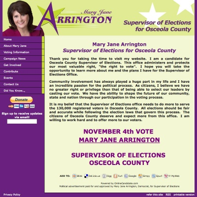 Supervisor of Elections Websites