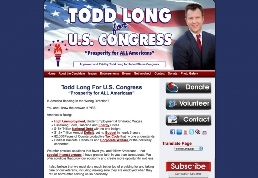 Todd Long For US Congress