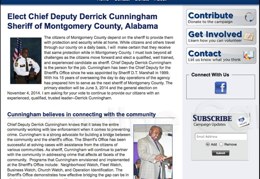 Chief Deputy Derrick Cunningham for Montgomery County Sheriff