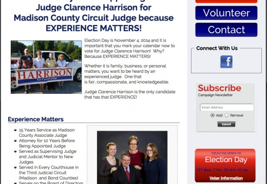 Judge Clarence Harrison for Madison County Circuit Judge