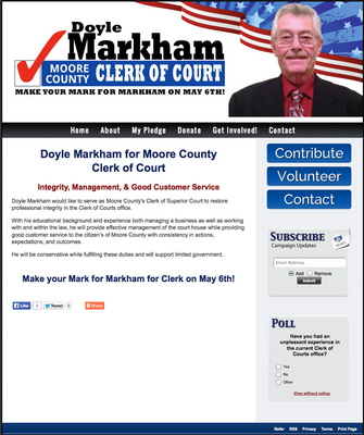 Doyle Markham for Moore County Clerk of Court