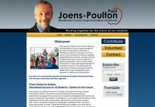 Pau Joens-Poulton for Mendocino County Superinendent of Schools