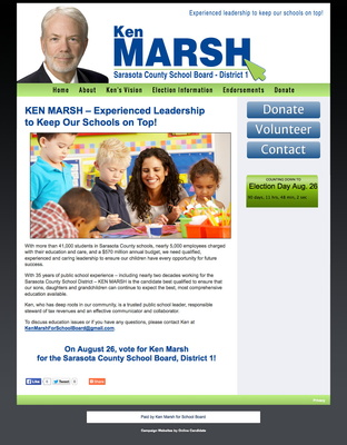 Ken Marsh for the Sarasota County School Board - District 1