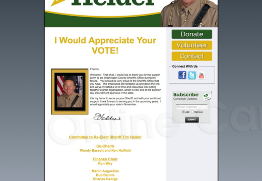 Re Elect Sheriff Tim Helder