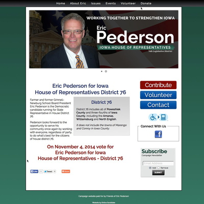 Eric Pederson for Iowa House of Representatives District 76