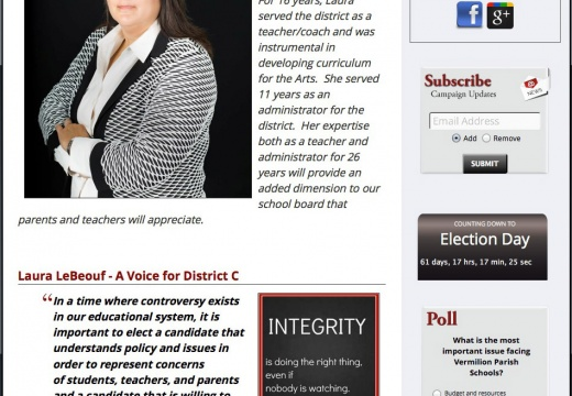 Laura LeBeouf for Vermilion School Board District C