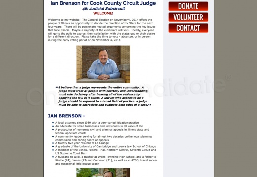 Ian Brenson for Cook County Circuit Judge 4th Judicial Subcircuit