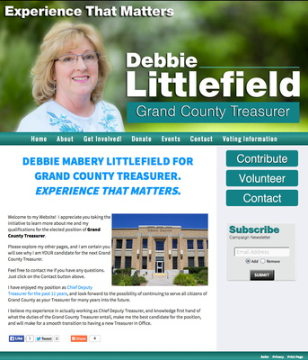 Debbie Littlefield for Moab UT Grand County Treasurer
