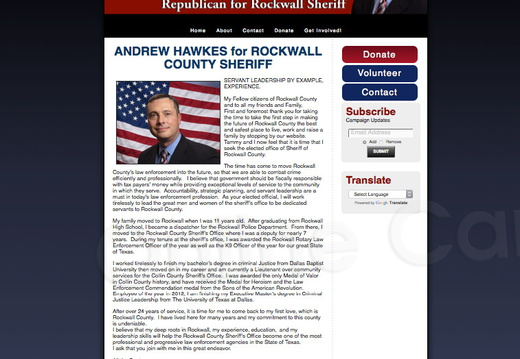 Andrew Hawkes for Rockwall Sheriff