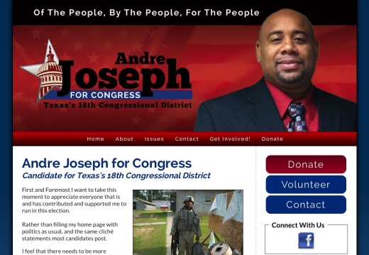 Joseph for Congress - Candidate for Texas's 18th Congressional District
