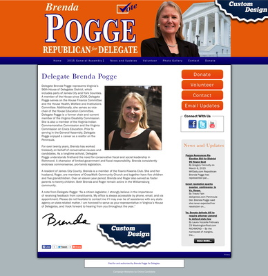 Virginia General Assembly Delegate Brenda Pogge