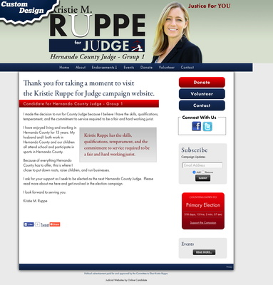 Kristie Ruppe for Judge