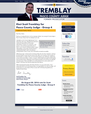 Elect Scott Tremblay for Pasco County Judge - Group 4