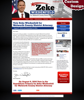 Zeke Wiedenfeld for Walworth County District Attorney