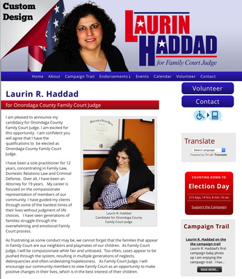 Laurin R. Haddad for Onondaga County Family Court Judge