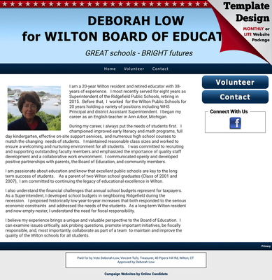Deborah Low for Wilton Board Of Education