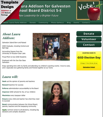 Elect Laura Addison for Galveston School Board District 5-E