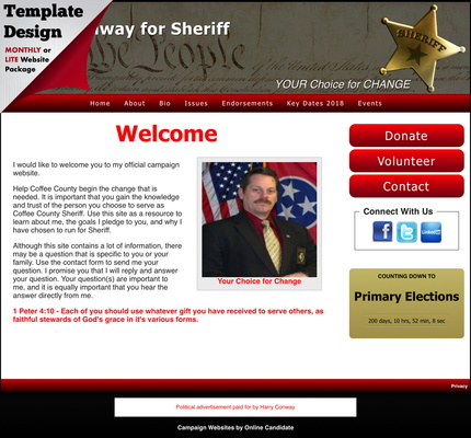 Harry Conway for Sheriff