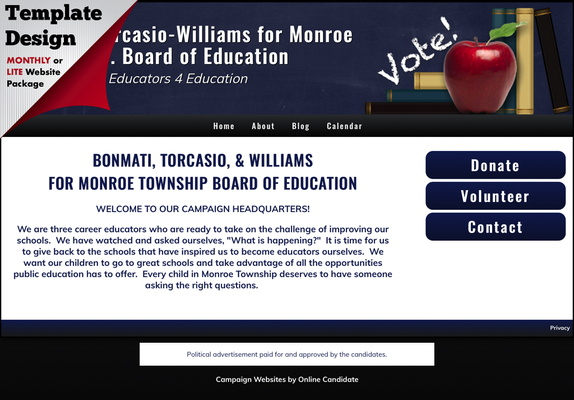 Bonmati-Torcasio-Williams for Monroe Twp. Board of Education