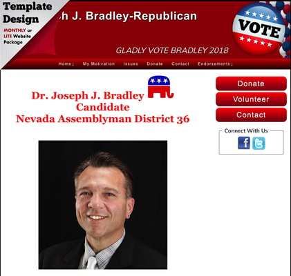 Joseph J. Bradley  Candidate Nevada Assemblyman District 36