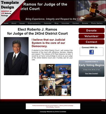 Roberto J. Ramos for Judge of the 243rd District Court