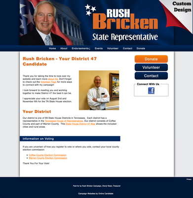 Rush Bricken for Tennessee State Representative
