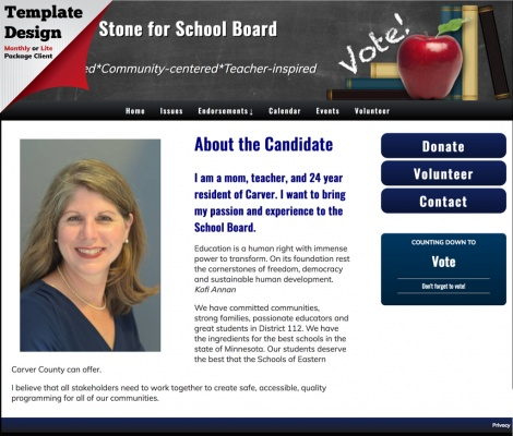 Jenny Stone for School Board - Minnesota