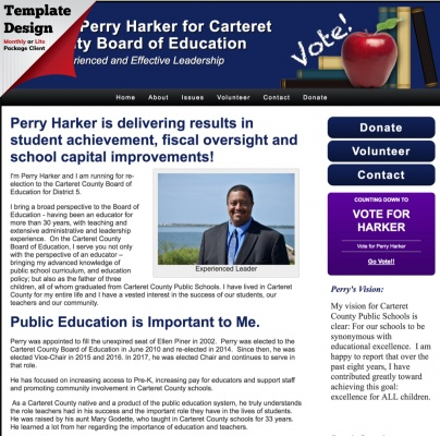 Re-elect Perry Harker for Carteret County Board of Education-North-Carolina