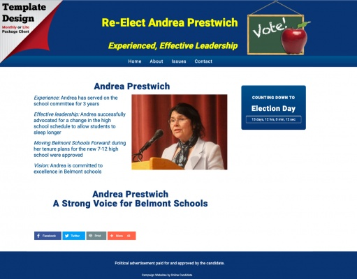 Re-Elect Andrea Prestwich for Belmont School Committee