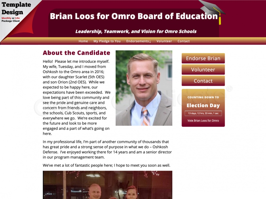 Brian Loos for Omro Board of Education
