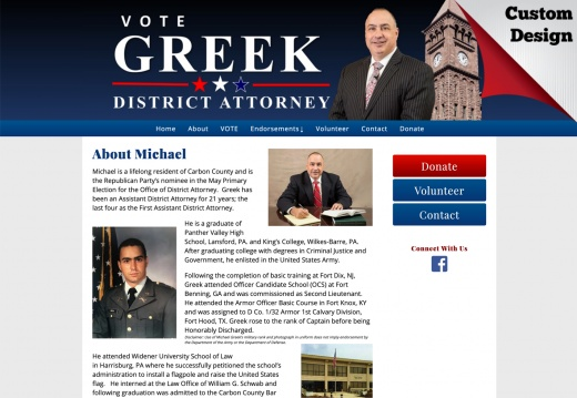 Michael Greek for District Attorney