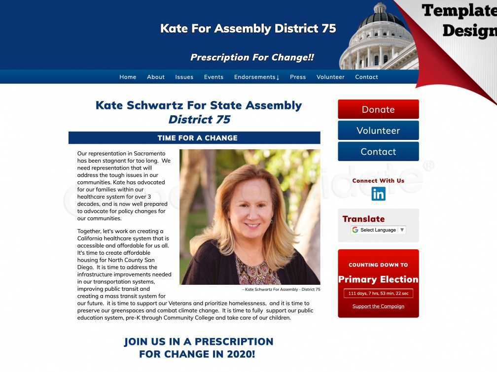 Kate Schwartz For State Assembly District 75