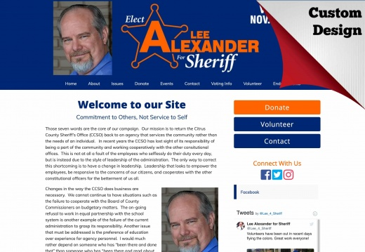 Lee Alexander for Citrus County Sheriff