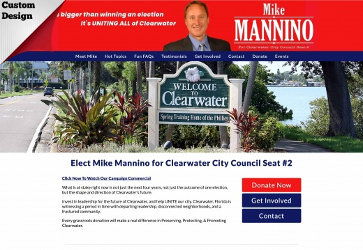Elect Mike Mannino for Clearwater City Council Seat #2
