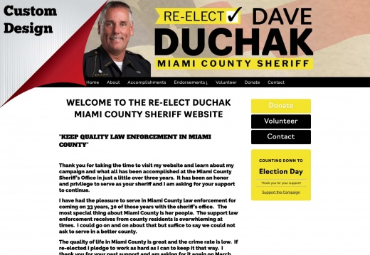 Re-Elect Dave Duchak for Miami County Sheriff