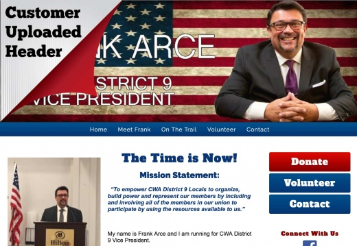 Frank Arce  for CWA District 9 Vice President