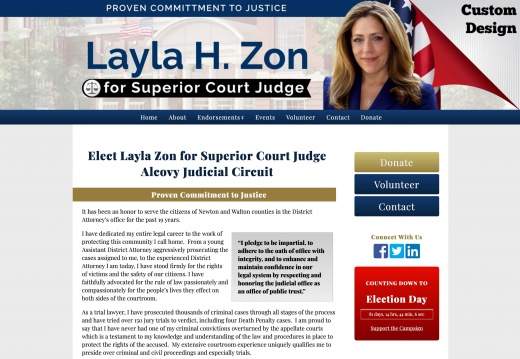 Elect Layla Zon for Superior Court Judge