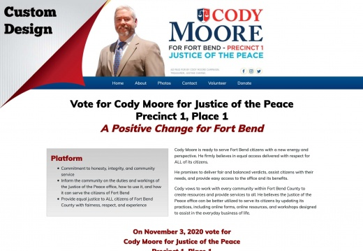 Cody Moore for Justice of the Peace