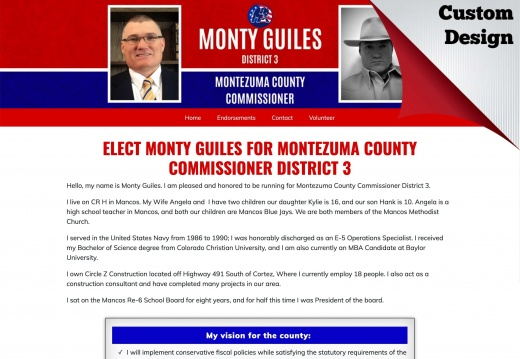 Elect Monty Guiles For Montezuma County Commissioner District 3